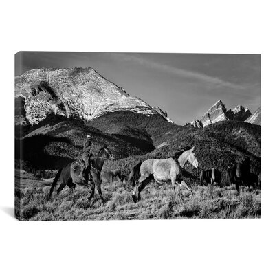 'Roping in the San Greys' by Dan Ballard Photographic Print on Canvas Size: 18