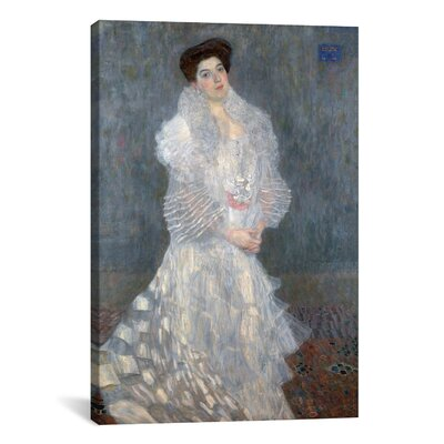 'Portrait of Hermine Gallia' by Gustav Klimt Painting Print on Canvas Size: 12