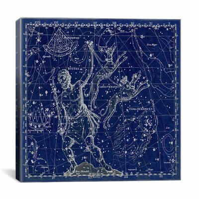 Celestial Atlas - Plate 7 (Canes Venatici) by Alexander Jamieson Graphic Art on Canvas in Blue Size: 26