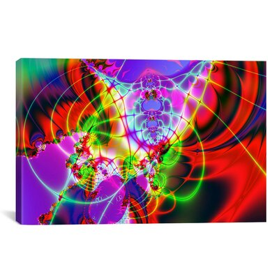Digital 'Spider Web' Graphic Art on Canvas 120-1PC3-12x8
