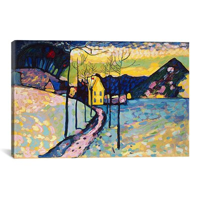 'Winter Landscape' by Wassily Kandinsky Painting Print on Canvas 11423-1PC3-12x8