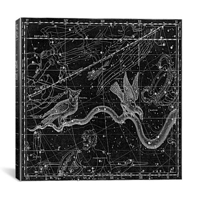 Celestial Atlas - Plate 27 (Hydra) by Alexander Jamieson Graphic Art on Canvas in Black Size: 26