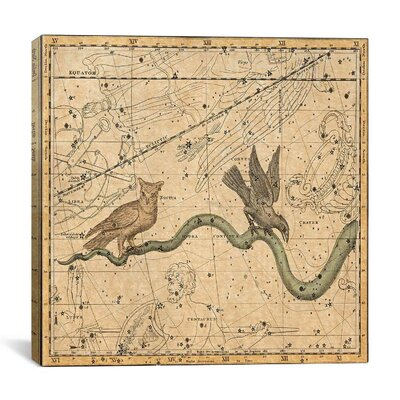 Celestial Atlas - Plate 27 (Hydra) by Alexander Jamieson Graphic Art on Canvas in Beige Size: 18