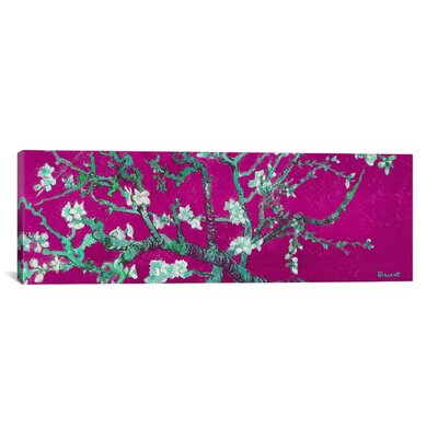 Almond Blossom by Vincent Van Gogh Painting Print on Canvas in Fuchsia Size: 12