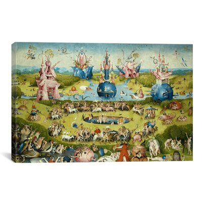 'Top of Central Panel from the Garden of Earthly Delights' by Hieronymus Bosch Painting Print on Canvas Size: 18