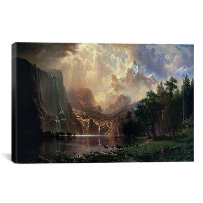 Among Sierra Nevada In California Canvas Print Wall Art Size: 18