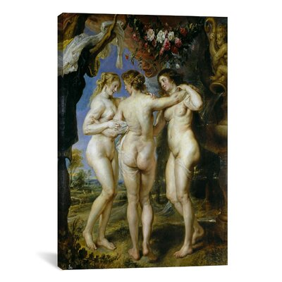'The Three Graces' by Peter Paul Rubens Painting Print on Canvas 1439-1PC3-12x8