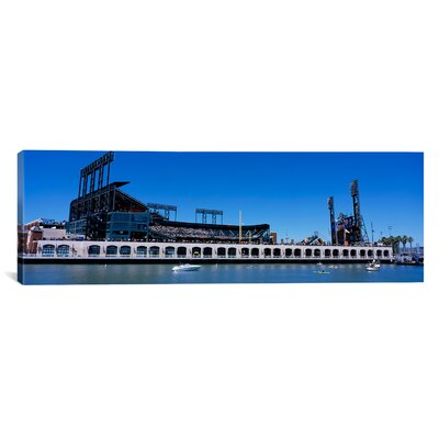 Panoramic California, San Francisco, SBC Ballpark, Stadium Near the Water Photographic Print on Canvas Size: 12