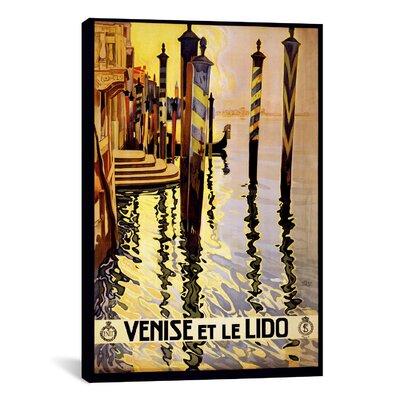 Venise Et Le Lido Venice Italy Vintage Advertisement On Canvas Size 40 H X 26 W X 075 D image