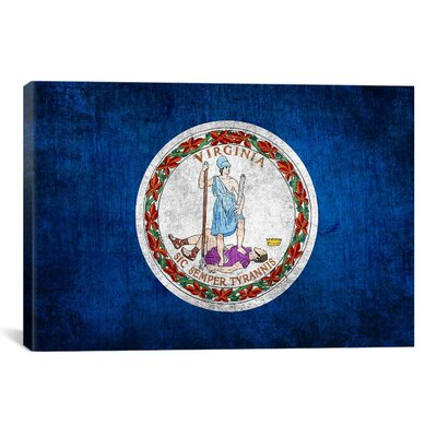 Flags Virginia Wood Graphic Art on Canvas Size: 40