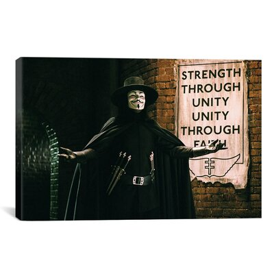 V for Vendetta Movie Vintage Advertisement on Canvas 3625-1PC3-12x8