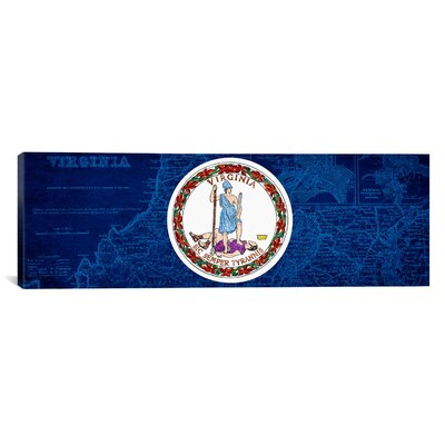 Flags Virginia Panoramic Graphic Art on Canvas Size: 12