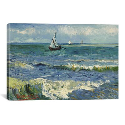 'Seascape Near Les Saintes Maries De La Mer' by Vincent Van Gogh Painting Print on Canvas