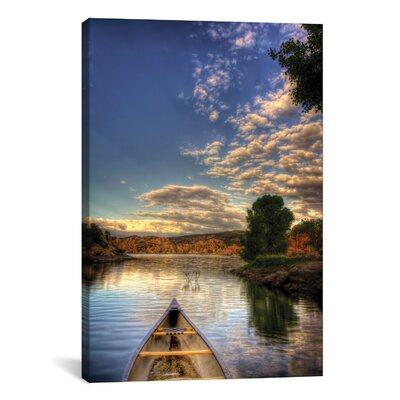icanvas  Photography 'Tip of a Boat' by Bob Larson Photographic Print on Canvas - Size: 18