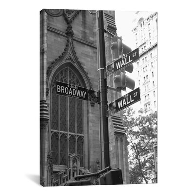 'Wall Street Signs (New York City)' by Christopher Bliss Photographic Print on Canvas Size: 12