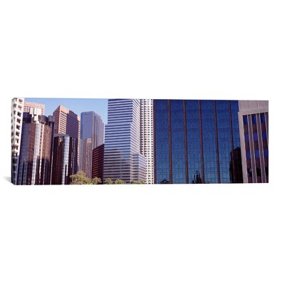 Panoramic 'Skyscrapers in a City, Los Angeles, Los Angeles County, California' Photographic Print on Canvas Size: 16