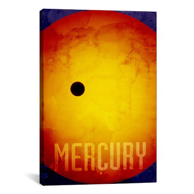 'The Planet Mercury' by Michael Thompsett Painting Print on Canvas Size: 18