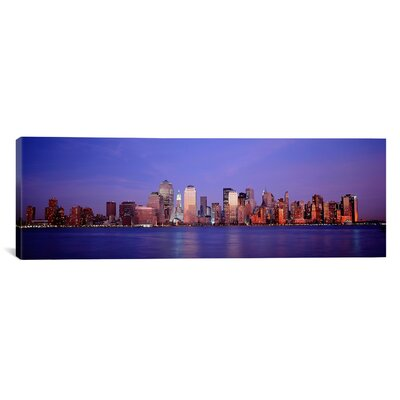 Panoramic Skyscrapers in a City, Manhattan, New York City, New York Photographic Print on Canvas PIM4704-1PC3-36x12
