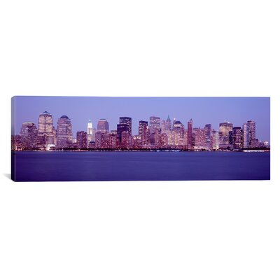 Panoramic Skyscrapers in a City, Manhattan, New York City, New York Photographic Print on Canvas PIM4732-1PC3-36x12