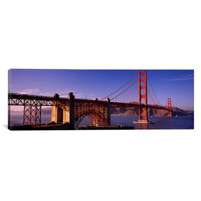 Suspension Bridge at Dusk, Golden Gate Bridge, San Francisco, Marin County, California Photographic Print on Wrapped Canvas PIM2847-1PC3-36x12