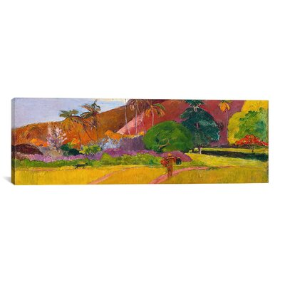 'Tahitian Landscape' by Paul Gauguin Painting Print on Canvas Size: 20