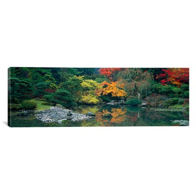 """icanvas Panoramic The Japanese Garden Seattle Washington Photographic Print on Canvas - Size: 16"""" H x 48"""" W x 1.5"""" D at Sears.com"""