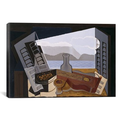 'The Open Windwon' by Juan Gris Painting Print on Canvas Size: 26