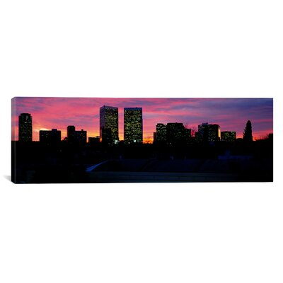 Panoramic Silhouette of Buildings in a City, Century City, City of Los Angeles, California Photographic Print on Canvas