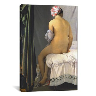 "The Bather of Valpincon by Jean Auguste Ingres Painting Print on Wrapped Canvas Size: 26"" H x 18"" W x 1.5"" D 1833-1PC6-26x18"