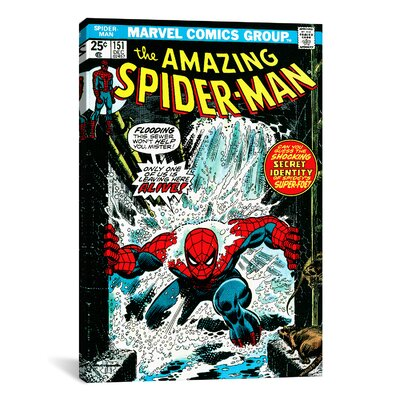 Marvel Comics Book Spider-Man Issue Cover #151 Graphic Art on Wrapped Canvas MRV60-1PC3-18X12