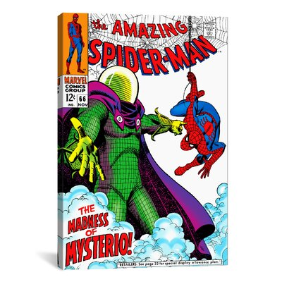 Marvel Comic Book Spider-Man Issue Cover #66 Graphic Art on Wrapped Canvas MRV50-1PC3-18X12