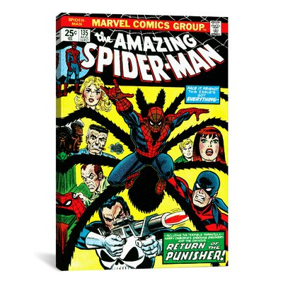 Marvel Comics Book Spider-Man Issue Cover #135 Graphic Art on Wrapped Canvas MRV57-1PC3-18X12