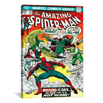 """icanvas Marvel Comics Book Spider-Man Issue Cover #141 Graphic Art on Canvas - Size: 18"""" H x 12"""" W x 0.75"""" D at Sears.com"""