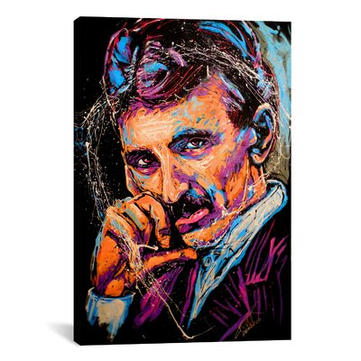 Nikola Tesla 003 Canvas Wall Art by Rock Demarco Size: 41