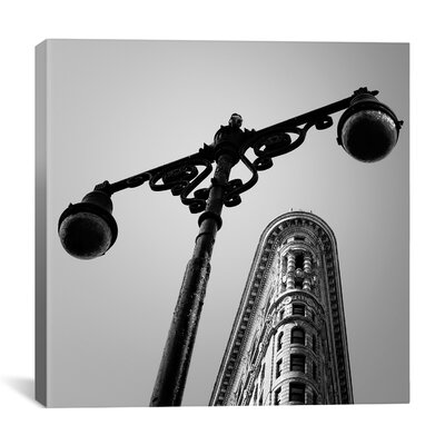 "New York City Flat Iron by Nina Papiorek Photographic Print on Wrapped Canvas Size: 26"" H x 26"" W x 0.75"" D 11648-1PC3-26X26"