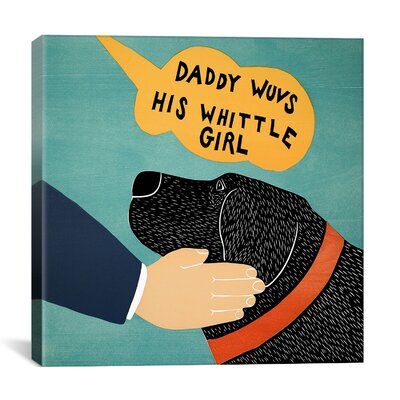 Daddy Wuvs his Wittle Girl by Stephen Huneck Painting Print on Wrapped Canvas STH19-1PC3-18X18