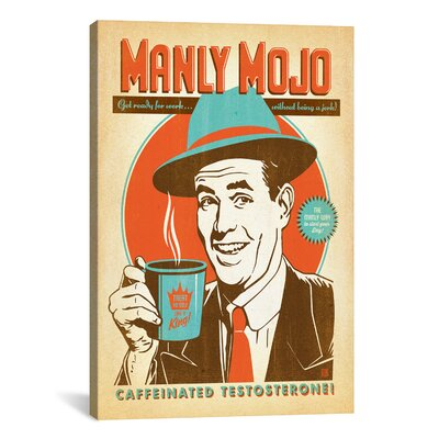 COF Manly Mojo Graphic Art on Wrapped Canvas ADG215-1PC3-18X12