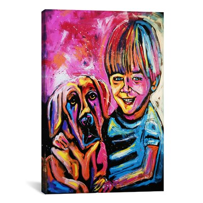Demaio Fam Painting 001 Canvas Print Wall Art Size: 40