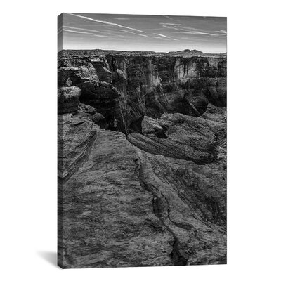 """'Horseshoe Bend BW, Part 1 of 3' by Moises Levy Photographic Print on Wrapped Canvas Size: 18"""" H x 12"""" W x 0.75"""" D MOL39-1PC3-18X12"""