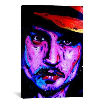 Johnny Depp Art 002 Canvas Print Wall Art Size: 40