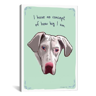 Tiny Confessions Small At Heart Great Dane Canvas Print Wall Art Size: 61