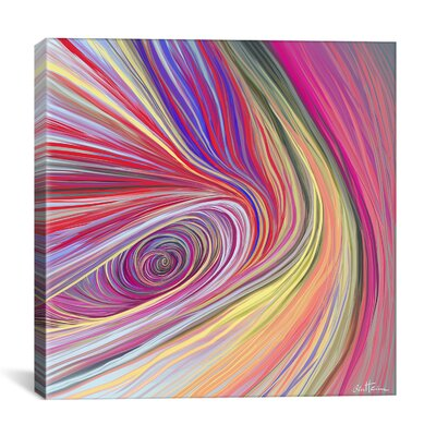 'Pure Abstract Bis' Graphic Art on Wrapped Canvas Size: 18