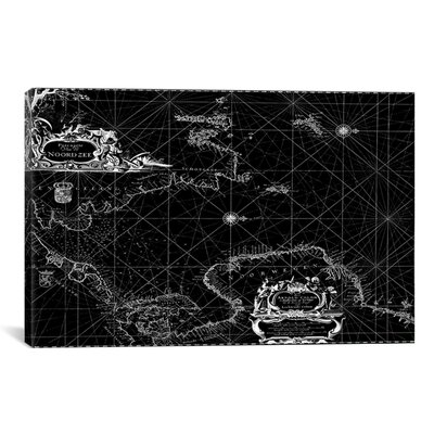 """iCanvasART Antique Sea Chart of Norway, German Sea & England (1958) by Arnold Colom Graphic Art on Canvas in Black -Size:26"""" Hx40"""" Wx0.75"""" at Sears.com"""