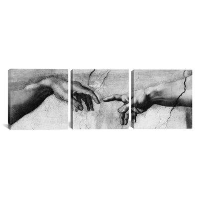 Michelangelo The Creation of Adam V Di Lodovico Buonarroti Simoni 3 Piece on Wrapped Canvas Set Size: 30