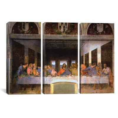 "The Last Supper by Leonardo da Vinci 3 Piece Painting Print on Wrapped Canvas Set Size: 40"" H x 60"" W x 0.75"" D 1354-3PC3-60x40"