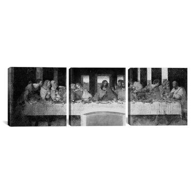 "The Last Supper II by Leonardo da Vinci 3 Piece Painting Print on Wrapped Canvas Set Size: 16"" H x 48"" W x 0.75"" D 1354PANb-3PC3-48x16"