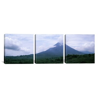 "icanvas Photography Volcano, Alajuela Province, Costa Rica 3 Piece on Canvas Set - Size: 30"" H x 90"" W x 1.5"" D at Sears.com"