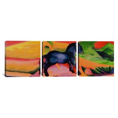 Franz Marc Little Blue Horse 3 Piece on Wrapped Canvas Set Size: 12