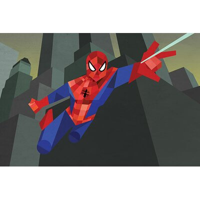 Marvel Comics Ultimate Spidy Geometric: Ultimate Spider-Man Graphic Art on Canvas MRV1040-1PC3-12x8