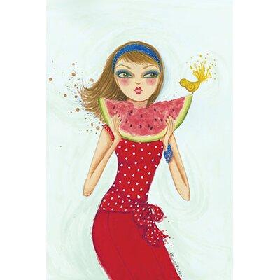 Backyard Melon by Bella Pilar Painting Print on Canvas Size: 40
